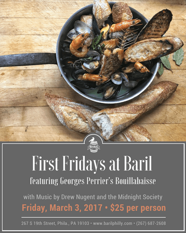 Baril's First Friday Bouillabaise with Georges Perrier
