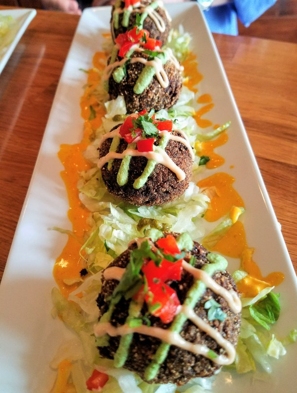 Black Bean Quinoa Balls at Quinoa Peruvian Mexican Restaurant in Doylestown, PA