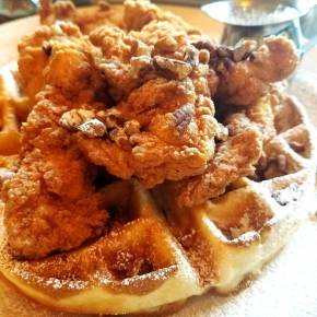 Grubspotting: Chicken & Waffles at Grand Lux Cafe