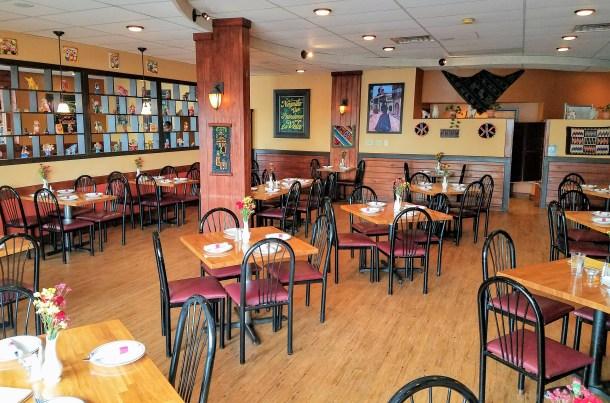 Inside Quinoa Peruvian Mexican Restaurant in Doylestown, PA