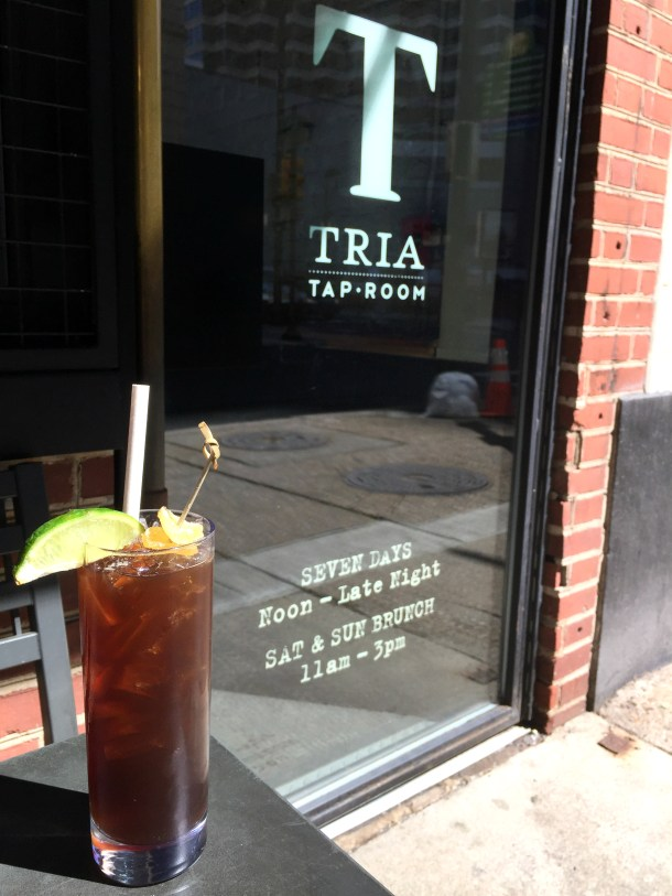 Tria Taproom Cocktail Outside