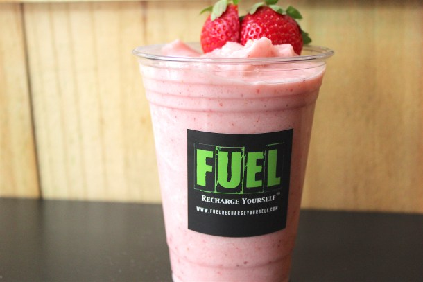 Strawberry Cream Smoothie at FUEL Philadelphia