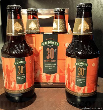 Summit Brewing Company's 30th Anniversary Barleywine Ale