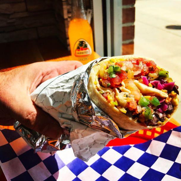 Andale Latino Grill Chicken Burrito
