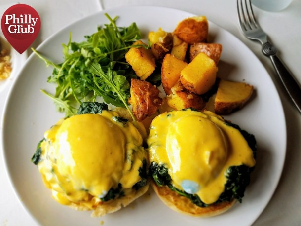 Crab Cake Eggs Benedict Moshulu Brunch