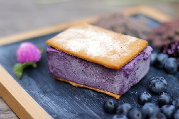 Weckerly's Blueberry Ice Cream Sandwich