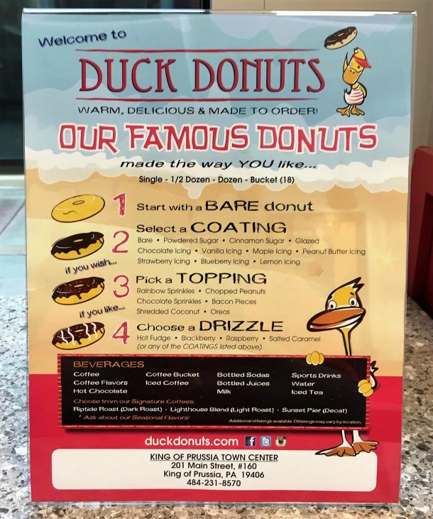 Duck Donuts Instructions