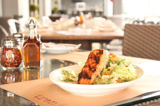 Salmon Salad at Treno Pizza Bar