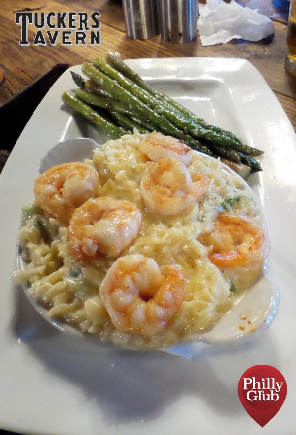 uckers Tavern Shrimp Orzo Mac and Cheese