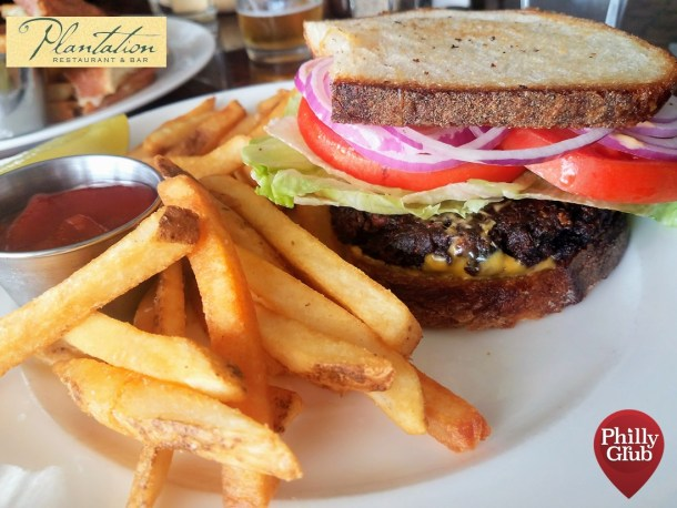 Plantation Restaurant Black Bean & Corn Patty Melt