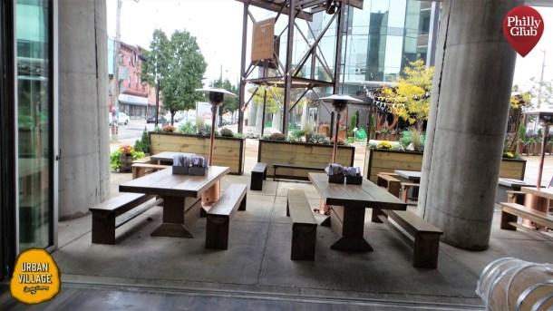 Urban Village Brewing Inside Looking Outside