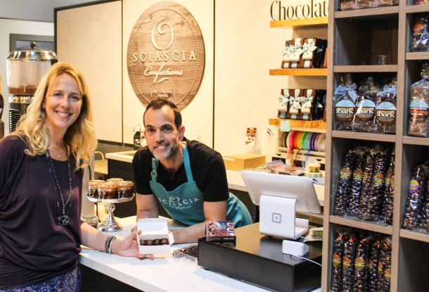 Sherri Daugherty of Ferry Market and Tom Sciascia of Sciascia Confections