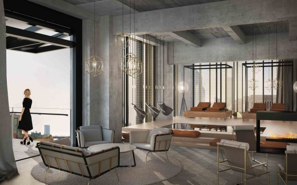 Fitler Club Interior Terrrace Rendering