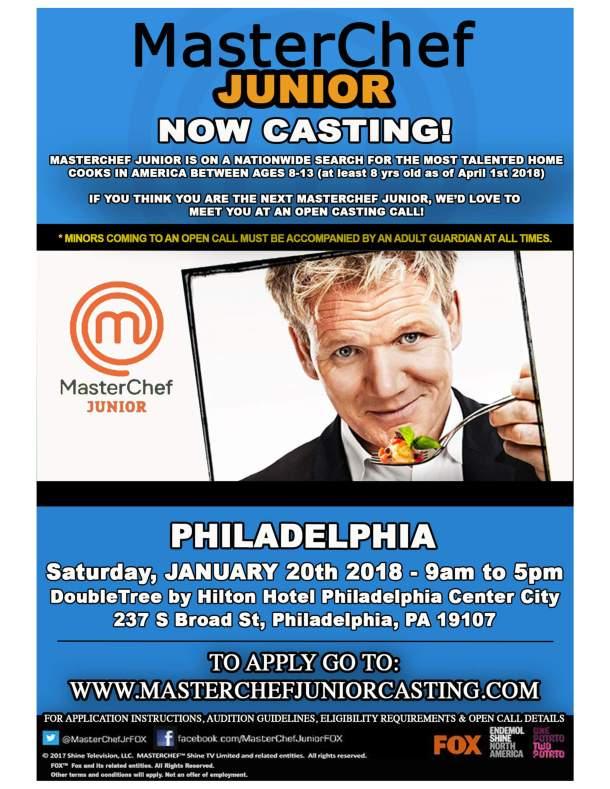 MasterChef Junior Casting in Philadelphia