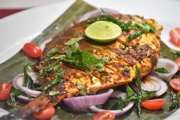 Golden Pomfret Fish at Mirchi Indian Cuisine Mount Laurel