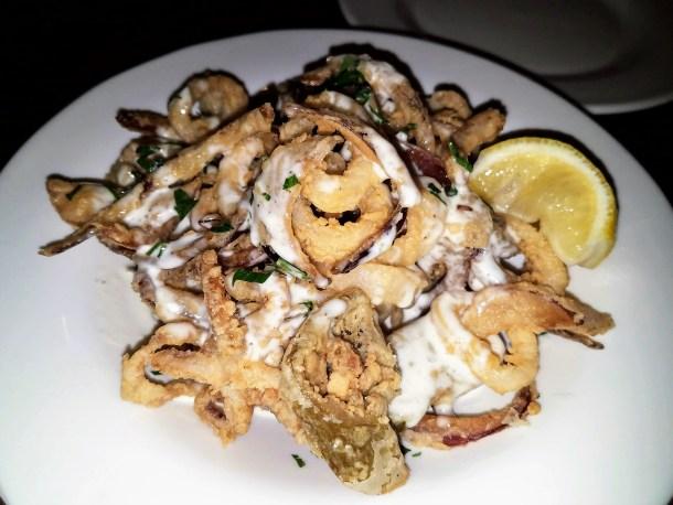 Crispy Calamari at Chris' Jazz Cafe in Philadelphia