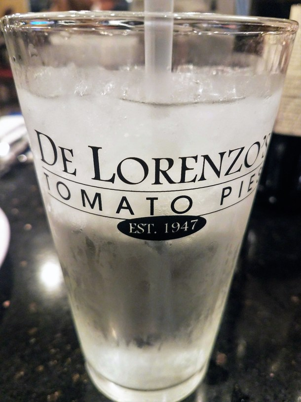 DeLorenzo's Tomato Pies Water Glass