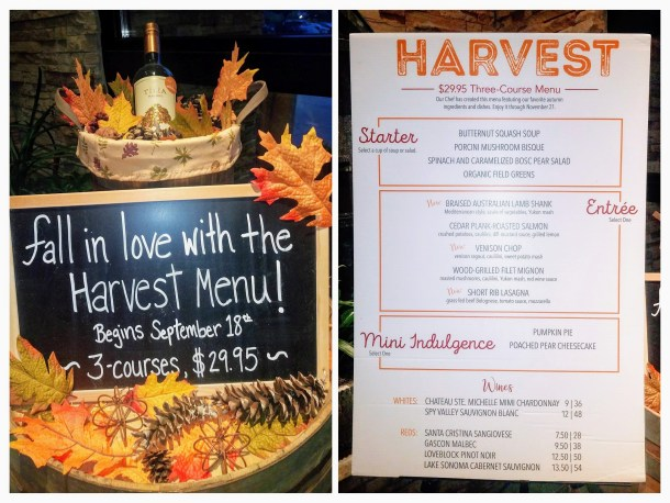 Seasons 52 Harvest Menu