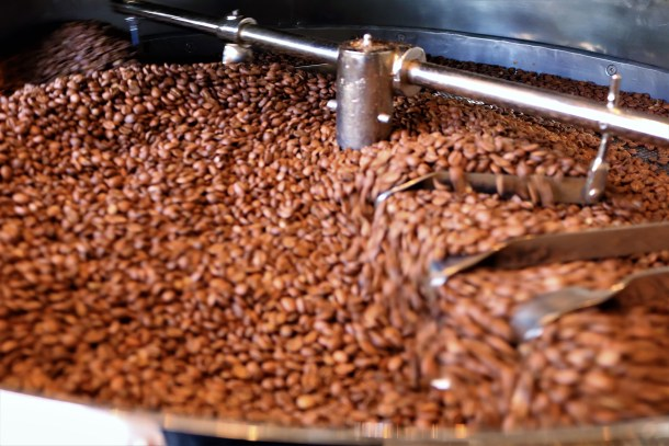 Coffee Beans Roasting Closeup Pilgrim Roasters Manayunk