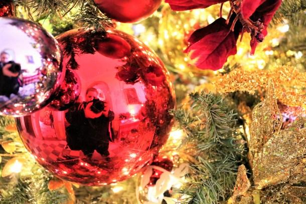 Closeup of Christmas Tree at Lemon Hill Mansion