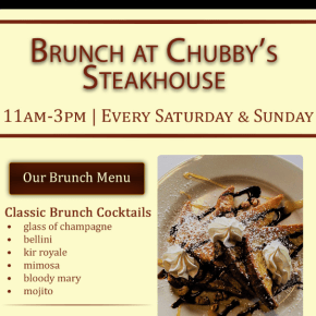 Chubby's Steakhouse Kicks Off Weekend Brunch