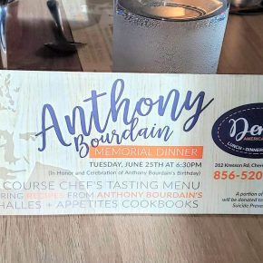 Recap: Anthony Bourdain Dinner at Denim American Bistro