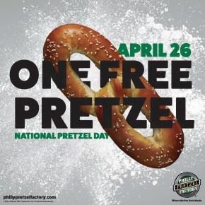 Philly Pretzel Factory Celebrates National Pretzel Day with Free Pretzels