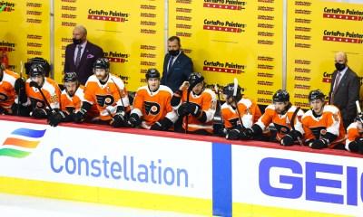 Philadelphia Flyers bench