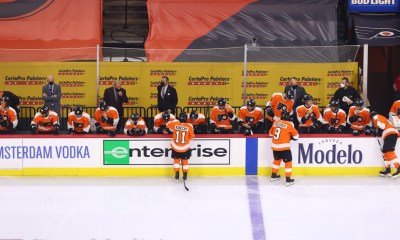 Flyers coach bench