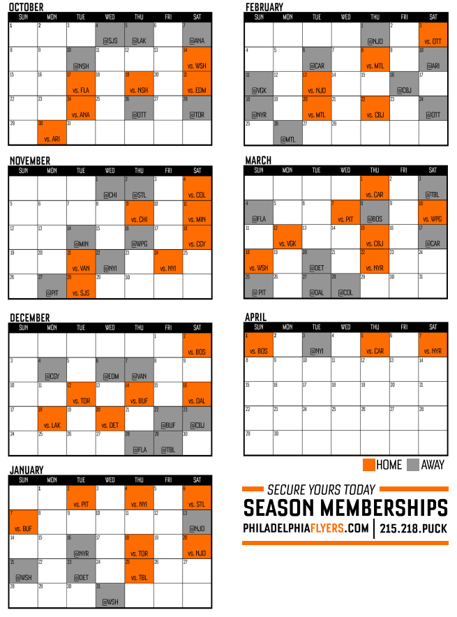 This is a graphic of Flyers Printable Schedule throughout valley phantoms
