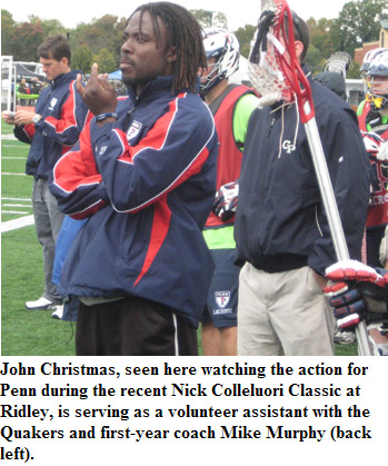 John Christmas Lacrosse.Former Lower Merion Virginia Great Christmas Hired As