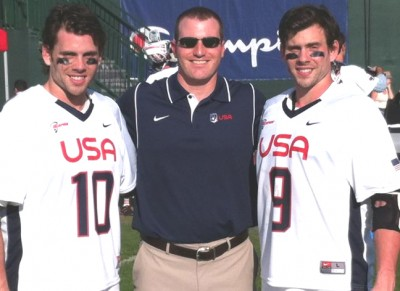 Kevin Cassese (middle) is an assistant for the US team