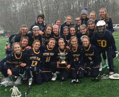 Academy of Notre Dame celebrates its Rooney Cup win over Merion Mercy