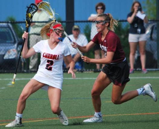 - Meg Matey being defended by Sondra Hickey