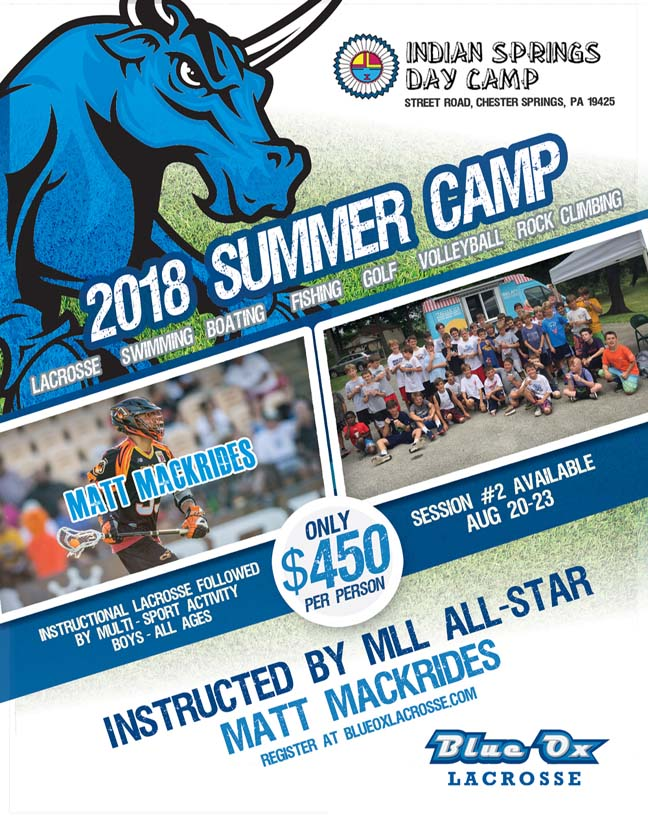 Registration Open For Blue Ox Summer Camp Session 2 On Aug 20 23 At Indian Springs In Chester Springs Phillylacrosse Com Phillylacrosse Com