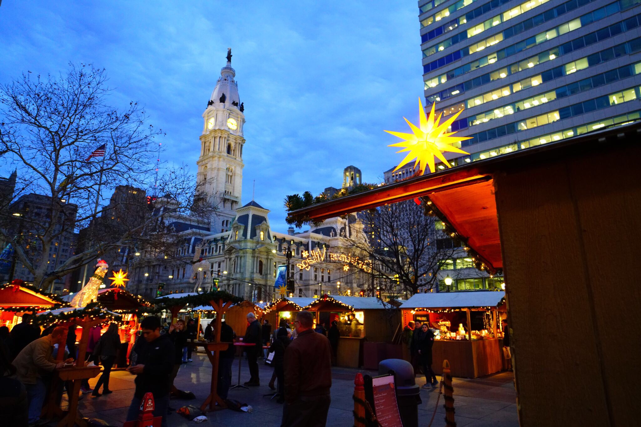 now in its 10th year the philadelphia christmas village is back in love park and is still an item to be added to any to do list