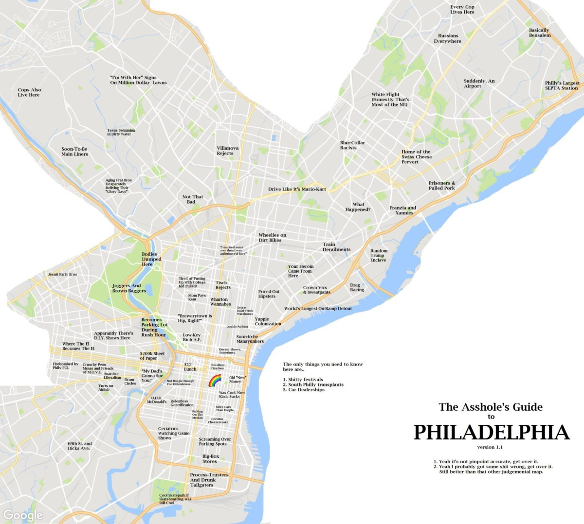 A Reddit User Made The Asshole's Guide To Philadelphia