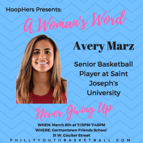 HoopHers Forum – Week 6 [3.8.15] Avery Marz