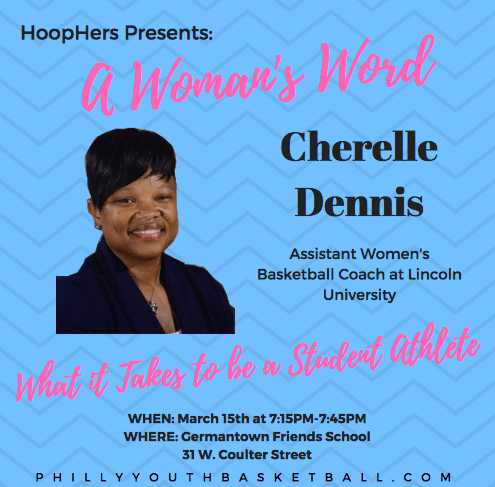 HoopHers Forum – Championship Night [3.15.18] Cherelle Dennis