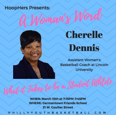 HoopHers Forum – Championship Night [3.15.18] Cherelle Dennis