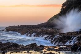 breaking wave on oregon coast