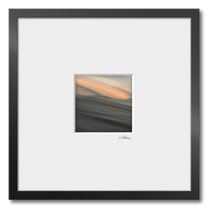 small framed abstract print