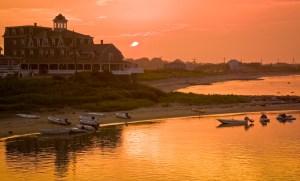 surf hotel at sunset, block island