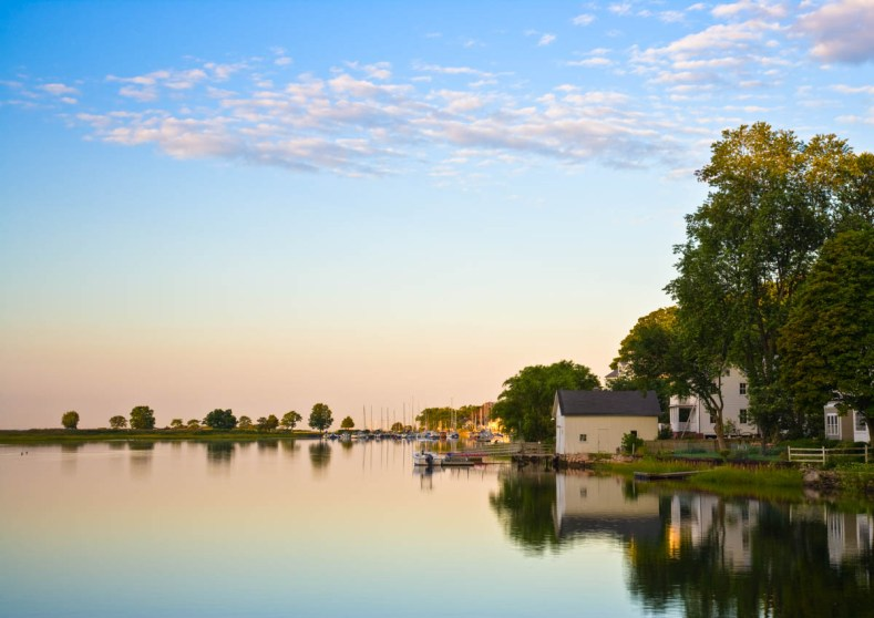 calm morning southport harbor