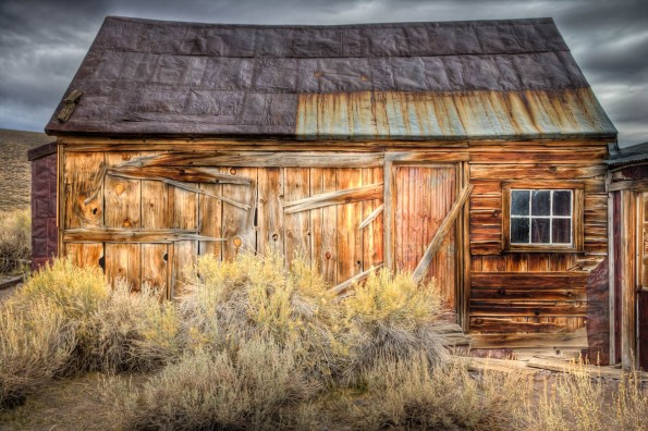 old cabin with tin roof