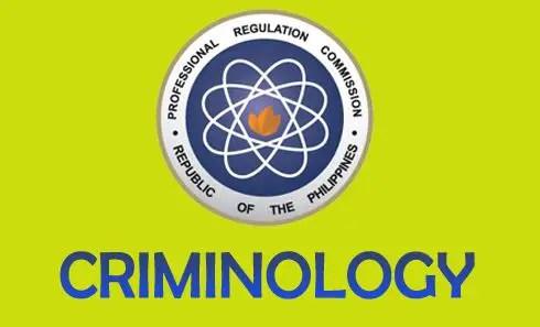 Criminologist Board Exam results