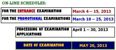 Application Procedure For Pnp Online Exam March 4 15