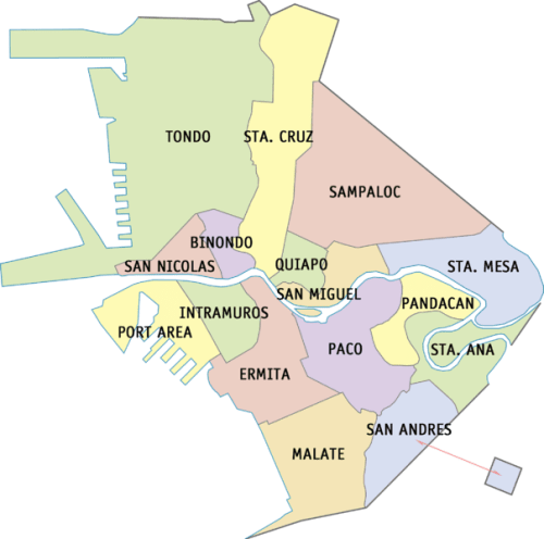 Manila Barangays Districts