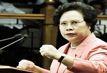 Sen. Miriam to end corruption if elected
