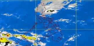 Amihan season satellite image